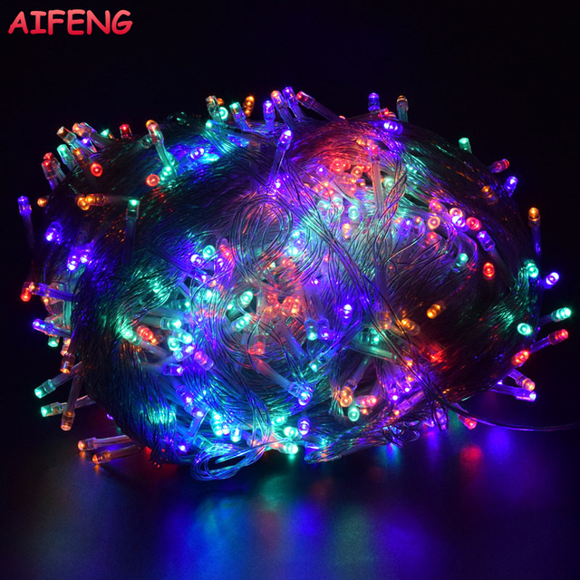 AIFENG Christmas Lights 5M 10M 20M 30M 50M 100M Led String 8 Function Christmas Lights 8 Colors For Wedding Party Holiday Lights