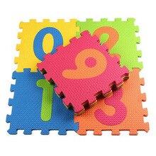 10pcs Children's Foam Carpet Mosaic Floor 30*30cm Puzzle Soft Carpet Baby Play Mat Floor Puzzle Mat EVA Developing Crawling Rugs