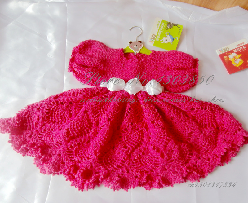 Knitting Dress For Girl : Handmade knitted toddles dress special occasion girls