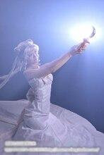 Королева Серенити сейлор Мун Косплей Костюм Красота Белый Вечернее Платье На Заказ