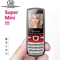 Oryginalny FORME T3 Rosyjska klawiatura Super mini telefon komórkowy MP3 MP4 FM Camera Metal back cover odblokowane telefony komórkowe Telefony