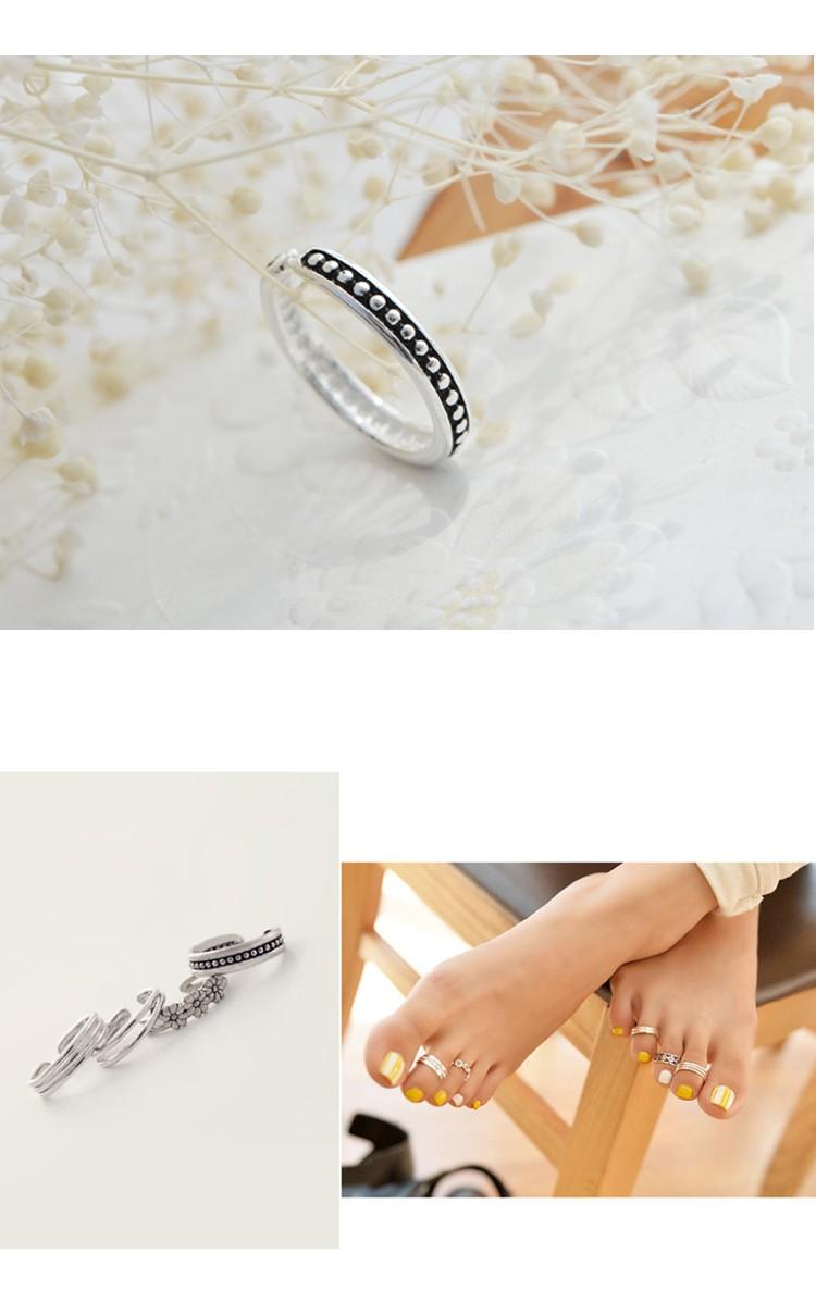 Various Designs 925 Sterling Silver Toe Rings