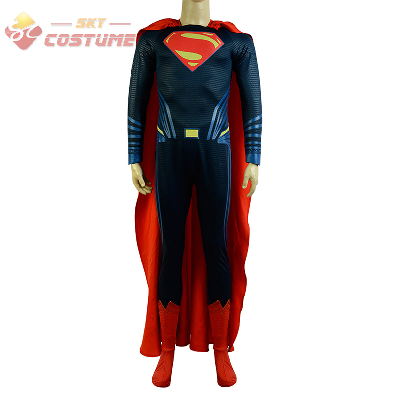 Batman V Superman:Dawn of Justice League Cosplay Costume Deluxe Version Full Set for Men Custom Made