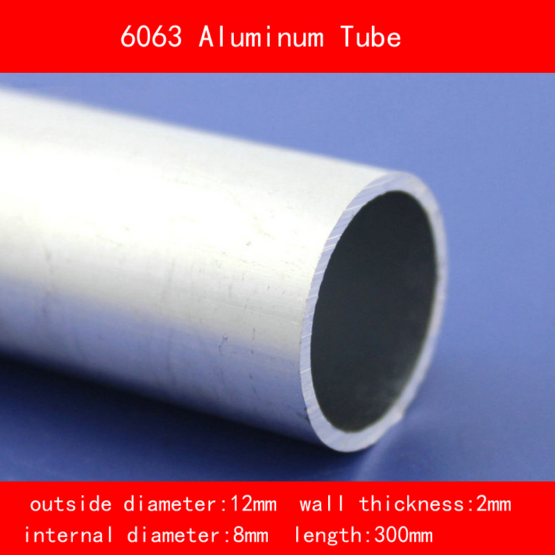 external diameter 12mm internal diameter 8mm wall thickness 2mm Length 300mm 6063 Aluminium Tube AL Pipe DIY Material external diameter 5mm internal diameter 3mm wall thickness 1mm length 300mm 6063 aluminium tube al pipe d5 d3 300mm