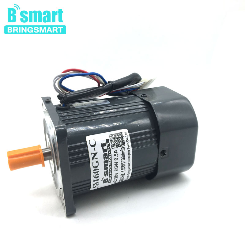 5M60GN-C AC Motor 220V Electric Motor  60W 1400rpm/2800rpm High Speed AC Motor Reversible With Speed Control CW/CCW High Torque