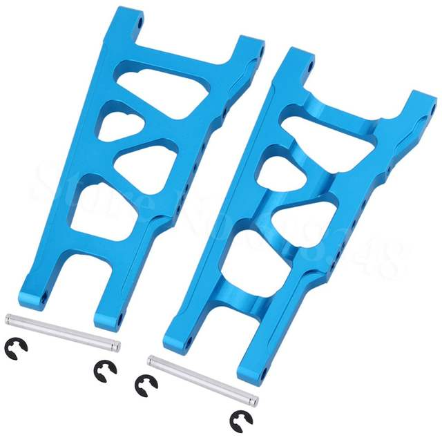 For 1/10 Traxxas Slash 4x4 Aluminum Front / Rear Suspension Left & Right  A-Arms Stampede Upgrade Parts of 3655x XO-1 w/TSM