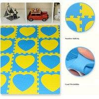 9 Pcs Set Funny Rug Baby Puzzle Carpet Play Floor Mat EVA Kids Printed Pattern Foam