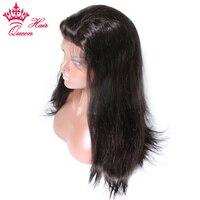 Königin Haar Volle Spitzeperücke Remy Haar 100% Menschen Glattes Haar Perücken 12