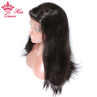 Queen Hair Full Lace Wig Remy Hair 100 Human Straight Hair Wigs For Black Women In