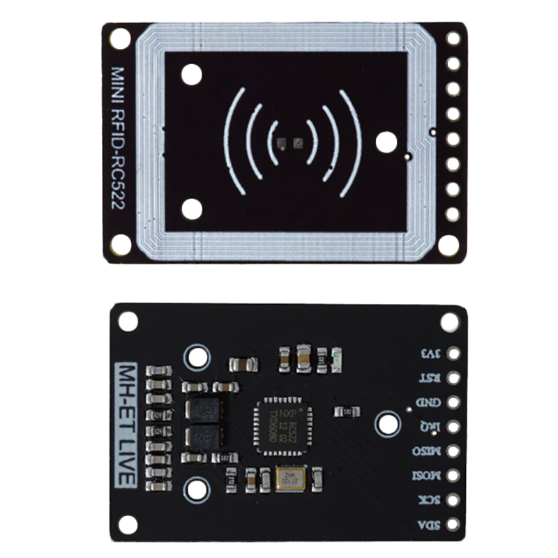 Mini Rc522 Rfid Sensor Module Card Reader Writer Module I2C Iic Interface Ic Card Rf Sensor Module Ultra-Small Rc522 13.56Mhz #8