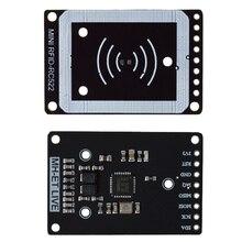 Mini Rc522 moduł czytnika kart Rfid moduł czytnika kart I2C interfejs Iic karta elektroniczna moduł czujnika Rf ultra mały Rc522 13.56Mhz #8