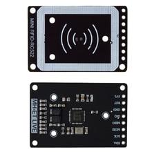 ミニRc522 rfidセンサーモジュールカードリーダーライターモジュールI2C iicインタフェースicカードrfセンサーモジュール超小型rc522 13.56 433mhzの番号 8