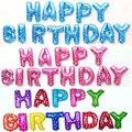 16 inch Feliz Cumpleaños globos Decoración Del Partido de Aluminio Globo De Helio globo de la Hoja Del Bebé de Las Letras Del Alfabeto niños Globos de aire