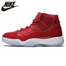 6aa30e25 Nike Air Jordan 11 AJ11 Sapatas de Basquetebol dos homens, Vermelho,  envolvente Não-Deslizamento Resistente Ao Desgaste de Absor.