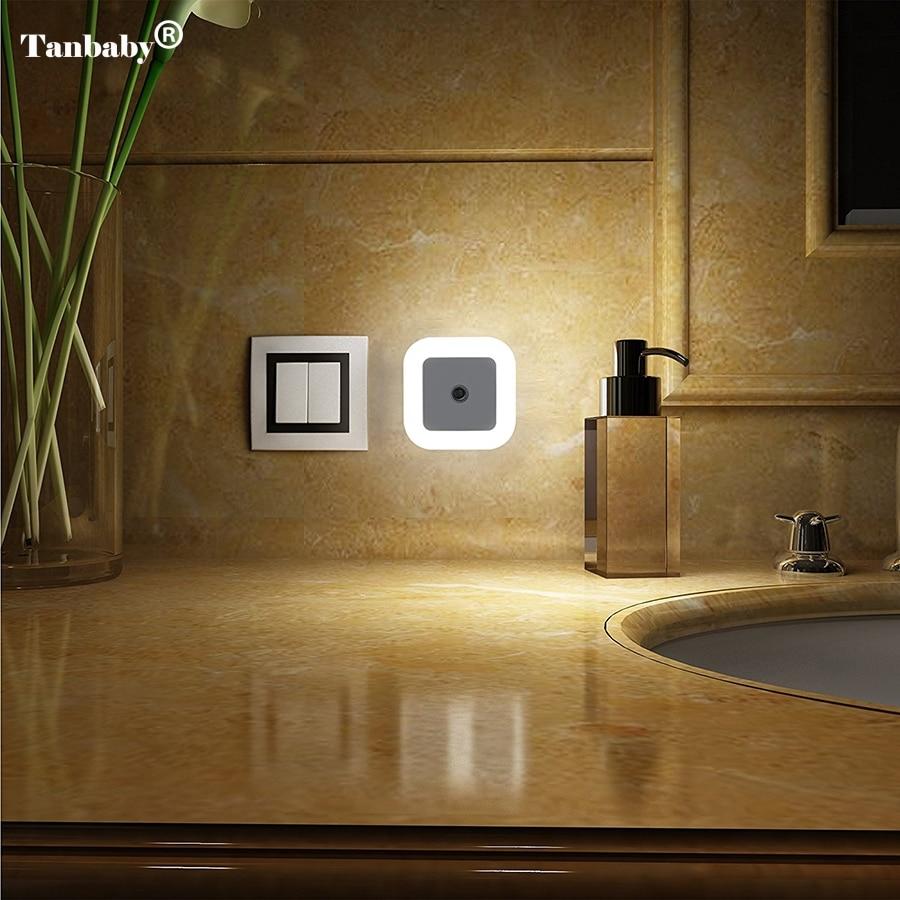 1Pcs EU/US plug Smart Sensor LED Night Light Lamp Induction Sensor Control LED Light 0.5W automatic light lamp us eu mini led 0 5w led flashlight lamp auto light sensor control baby bedroom lamp night light flash light