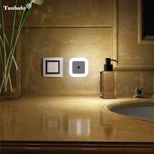 Tanbaby 1Pcs EU/US plug Smart Sensor LED Night Light Lamp Induction Sensor Control LED Light 0.5W automatic light lamp