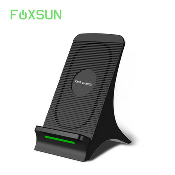 Wireless Charger Qi Charging Stand with Fan 10W Fast Wireless Charging for Galaxy S9/S9 Plus 5W Standard Charge for iPhone X/8/7
