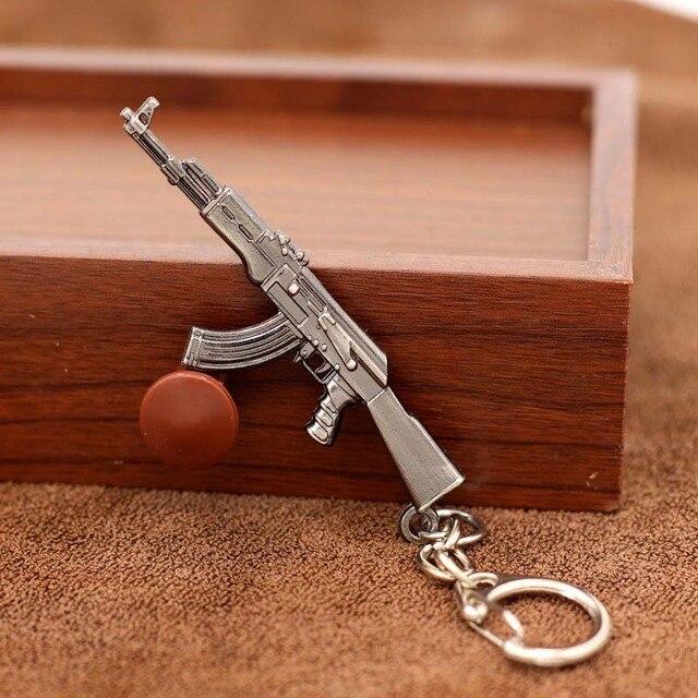 Bán Trò Chơi M16 Mới Lạ Vật Dụng AK47 Nam Súng Móc Khóa Mặt dây chuyền Thiền Trượng M4A1 Bắn Tỉa Móc Khóa 10 kiểu Trang Sức Quà Lưu Niệm quà Tặng