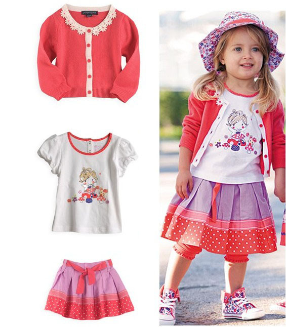 wholesale 5 sets/lot kid clothing set,girl love wear,cute cartoon ...