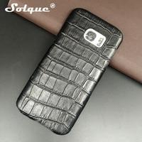 Genuine Leather Case For Samsung Galaxy S7 Edge Cell Phone Slim Luxury 3D Crocodile Skin Design