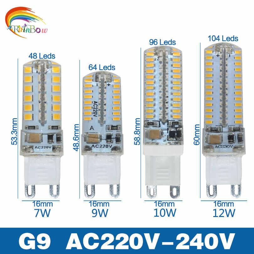 Le plus bas prix LED Ampoule SMD 2835 3014 LED G4 G9 lampe à LED 3 W 7 W 9 W 10 W 12 W lumière LED DC12V AC220V 360 Degrés Remplacent la Lampe D'halogène