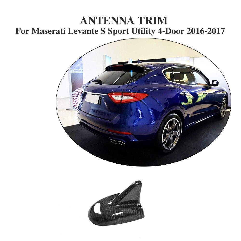 En Fiber De carbone Auto Aileron de Requin Antenne De Toit Garniture pour Maserati Levante S Sport Utility 4-porte 2016-2017