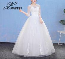 Dress 2019 new round neck slimming shoulder long-sleeved dress