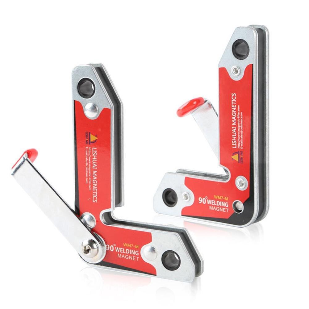 2 шт./компл. сильный магнитные Сварка приспособление внутренних и внешних правый угол фиксации сварочный неодимовые Материал держатель