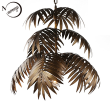 Industrial art deco coconut tree pendant light LED E27 modern loft hanging lamp for living room restaurant bedroom lobby hotel