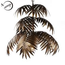 Industrial art deco coconut tree pendant light LED E27 modern loft hanging lamp for living room restaurant bedroom lobby hotel
