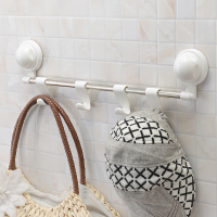 Free Shipping Plastic Suction Cup Wall Mount Decoration Modern House Hotel Style Bathroom Towel Rack Cloth
