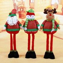 ZLJQ 80cm Santa Claus Snowman Elk Ornaments For Kids Dolls Toys Christmas Gifts Christmas Party Decoration Supplies 7.5D
