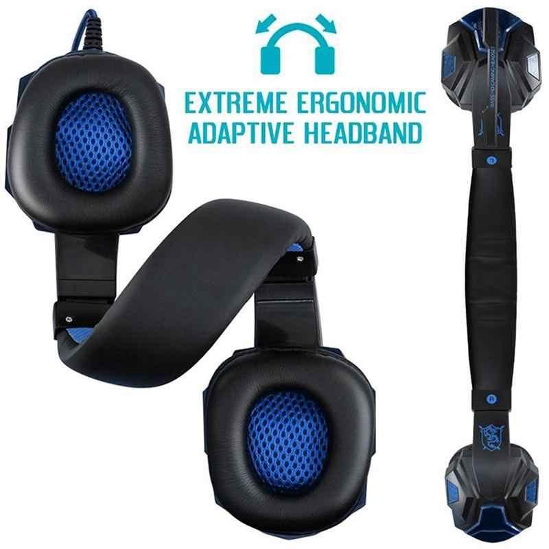 EastVita PC780 หูฟังสำหรับเล่นเกมHeadset Gamerหูฟังสเตอริโอชุดหูฟังพร้อมไมโครโฟนLED LightสำหรับPC Gamer