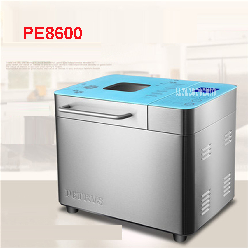PE8600 Automatic Multi-Function Mini Bread Machine 1000g Intelligent Bread Machine Easy Breadmaker Baking Tool ice cream 500 w home intelligent fully automatic american style coffee machine drip type small is grinding ice cream teapot one machine