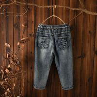 Vrouwen Denim Broek Jeans Broek Bloemen Borduren Patch Werk Knie Casual Losse Laag Kruis Denim Blauw Licht Kleur