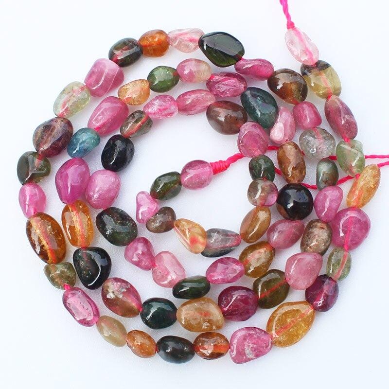 """Di buona Qualità, naturale Rosa e Multi-Colore Tormalina 3-5mm perle Irregolari 15 """"/38 cm per strand"""