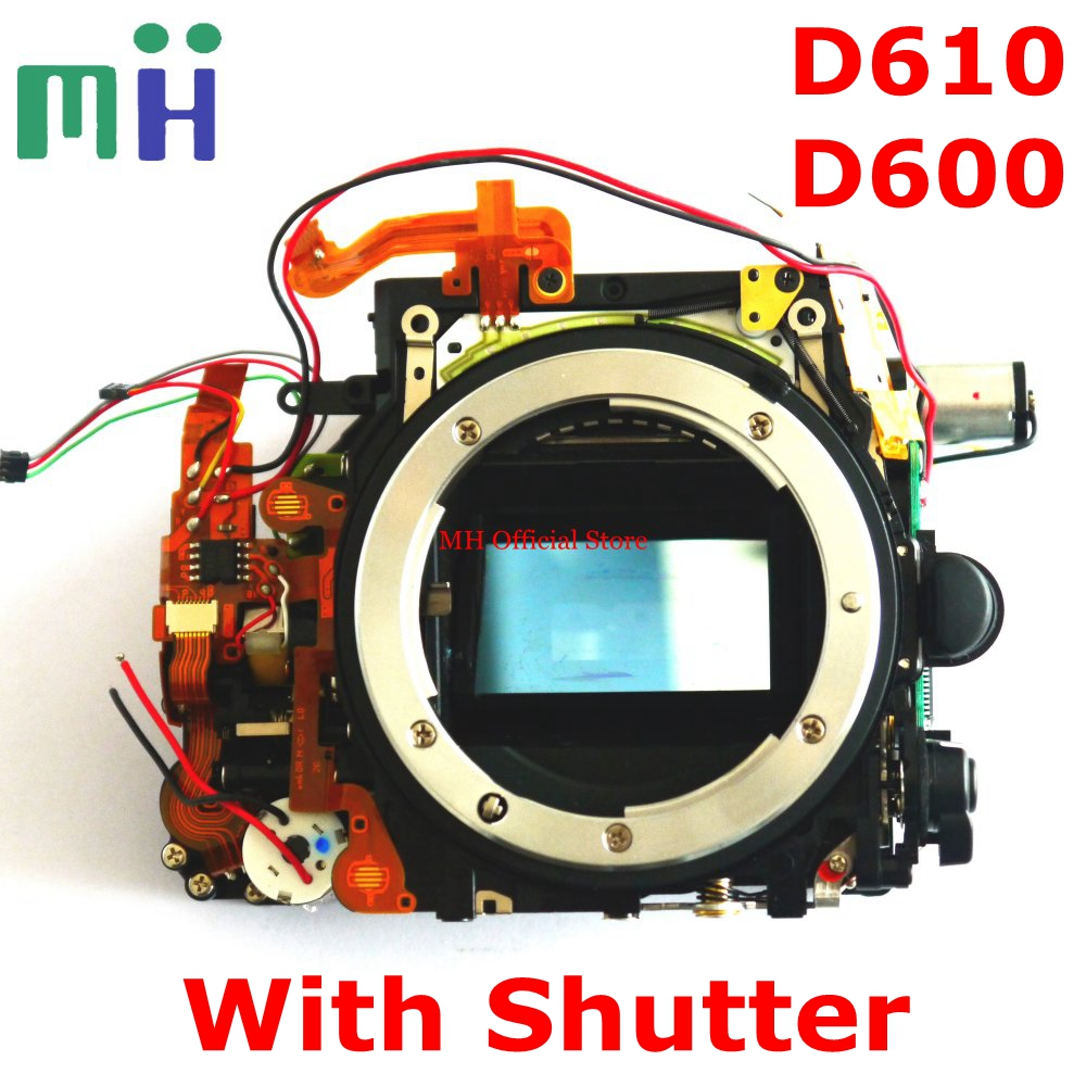 For Nikon D600 D610 Front Main Body Frame Mirror Box with Shutter Aperture Motor Diphragm Unit