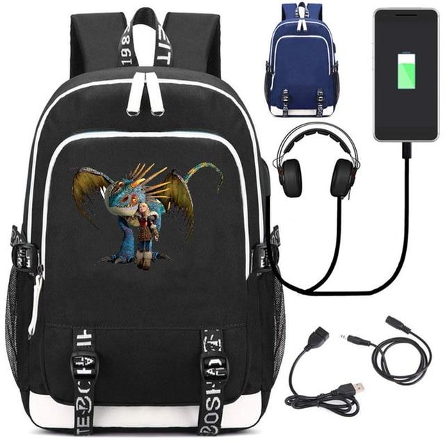 Рюкзак Как приручить дракона 3 USB зарядка в подарок 1