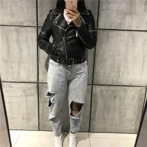 Image 3 - レディース本革ジャケット女性品質本革ジャケット moto & バイカーレザージャケット