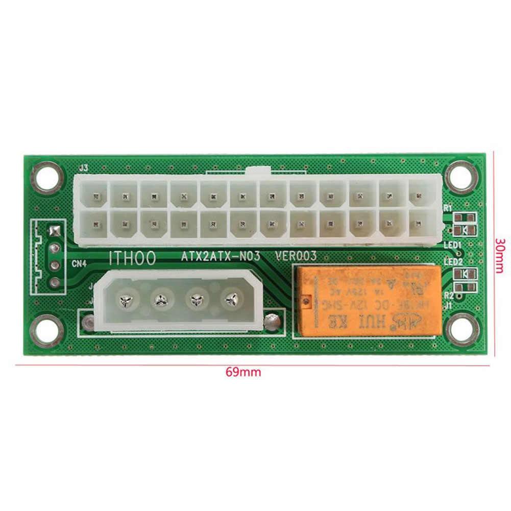 Línea de suministro de energía 24Pin a 4Pin Molex Dual PSU de sincronización de Cable extensor de tarjeta para Bitcoin minero de IJS998