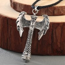 CHENGXUN Slavic Perun Axe Pendant Mens Necklace Viking Axe Celtic Amulet Nordic Talisman Jewelry Gothic Retro Pagan Pendant(China)