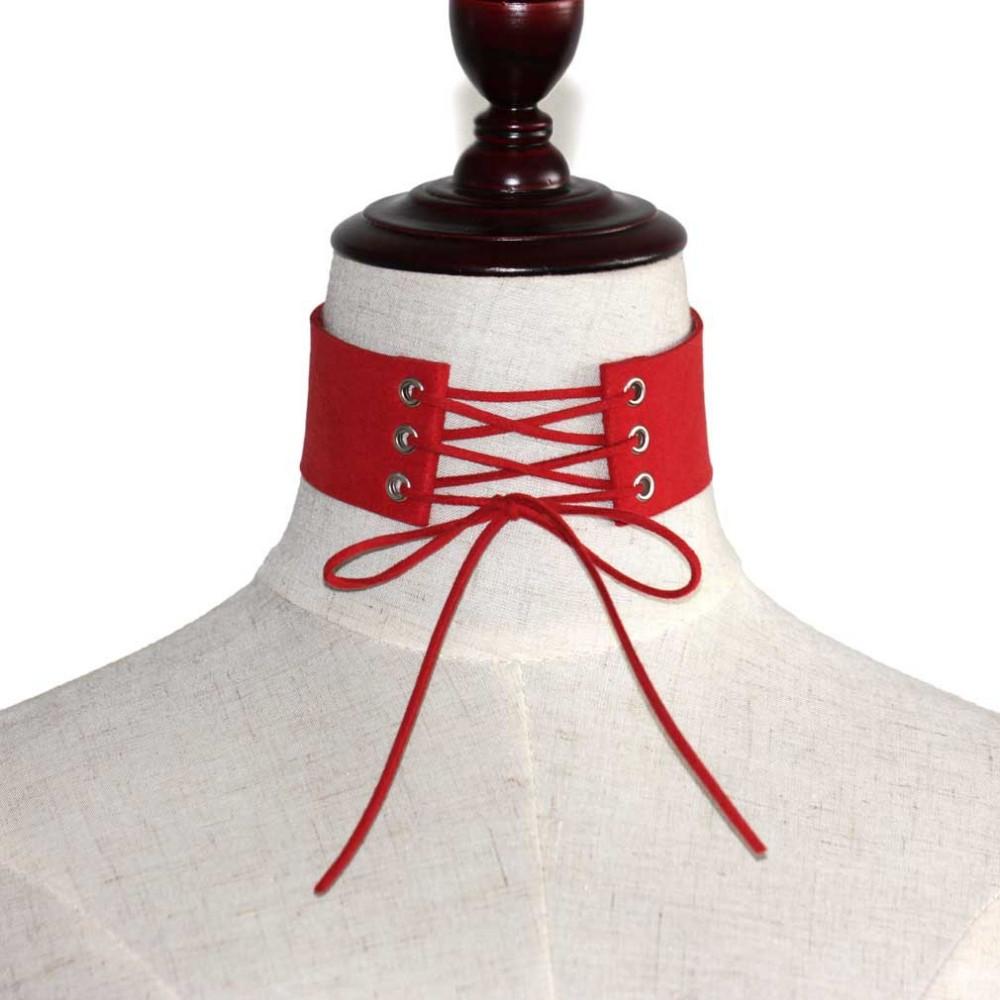 HTB16VBKLpXXXXXMXpXXq6xXFXXXs Gothic BDSM Black Velvet Lace Up Choker Collar Necklace For Women - 11 Colors