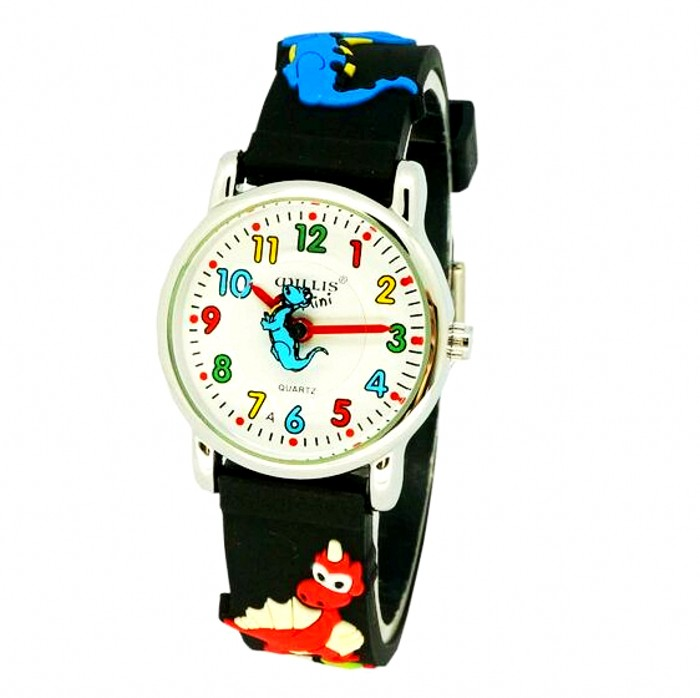 2017 NEW waterproof 3D Cartoon Animal Jurassic dinosaurs Design Analog Wrist Watch Children clock / kid Quartz Wrist Watches north little boys girls children wrist kids watches cartoon 3d dolphin design analog band 30m waterproof blue