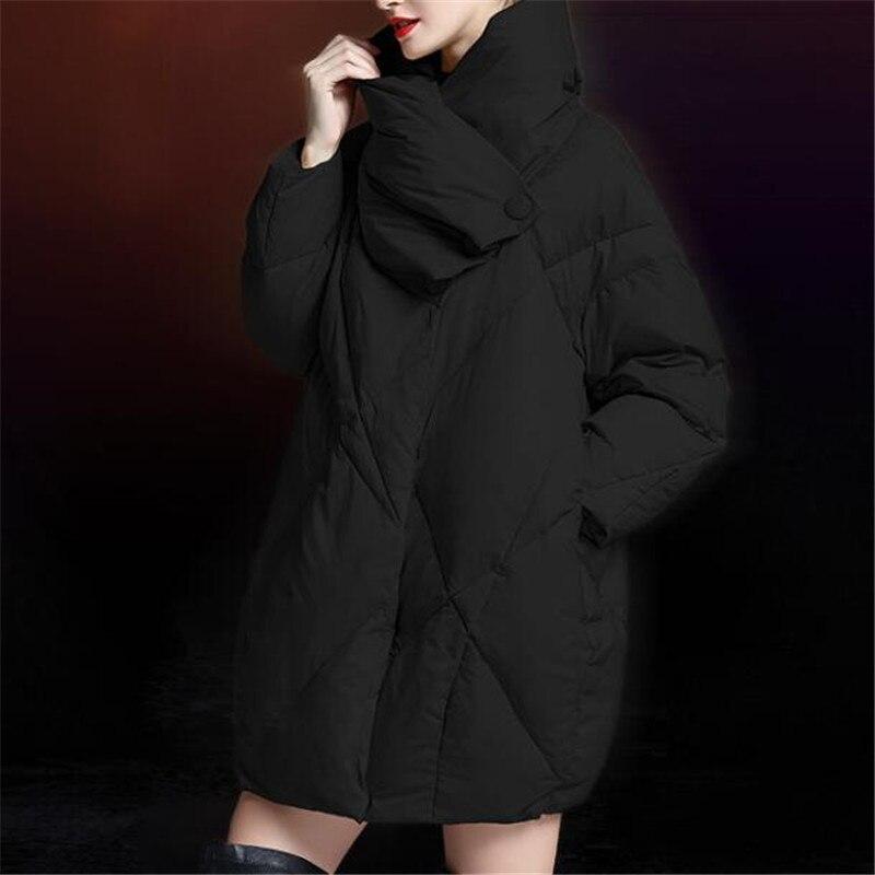 Ouatée Manteau Femmes Color khaki Solides D'hiver Black Neploe Chaud Turn En Vestes down Survêtement Zipper Vrac Vers Bas Col 68570 caramel Mode Épais 2019 Le zggSqxrXOw