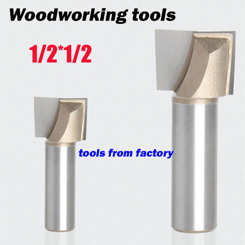 1pc wooden router bits 1/2*1/2 CNC woodworking milling cutter woodwork carving tool 1pc wooden router bits 1 2 1 1 2 woodworking carving cutter cnc engraving cutting tools bearing woodwork tool