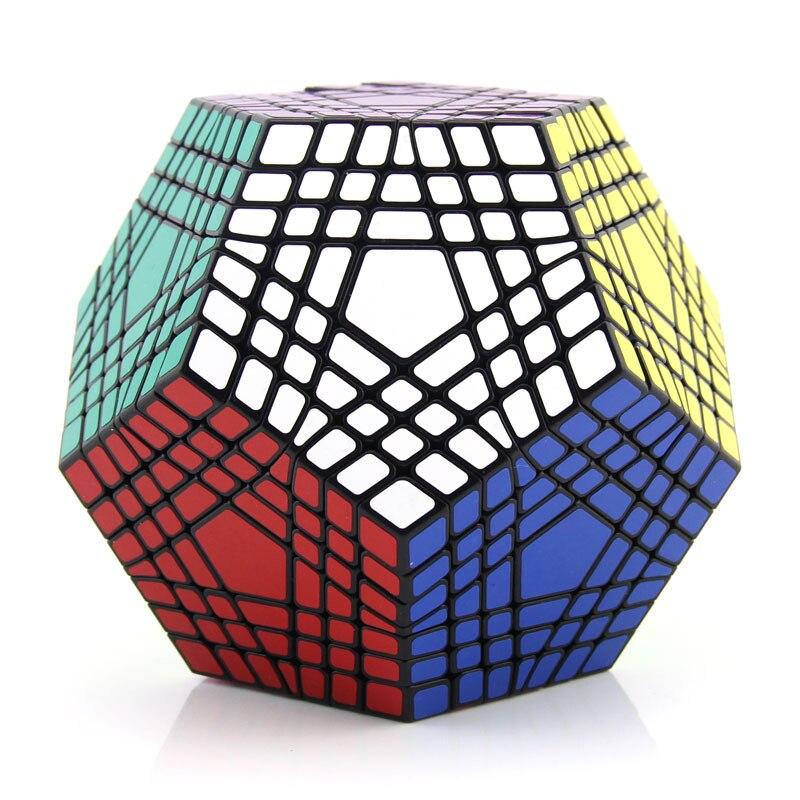 ShengShou Teraminx 7x7x7 Cube magique Dodecahedron compétition professionnelle Cubes de vitesse Puzzle Twist jouets pour adulte jeu difficile
