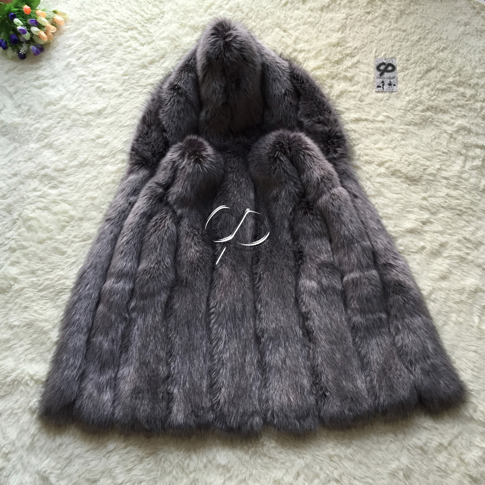 CP Brand Fur Vest Women Winter Fake Fur Vest With Hood Furry Cute Faux Fox Fur Vest Woman Plus Size Faux Fur High Quality