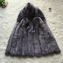 CP Brand Fur Vest Women Winter Fake Fur Vest With Hood Furry Cute Faux Fox Fur Vest Woman Plus Size Faux Fur High Quality