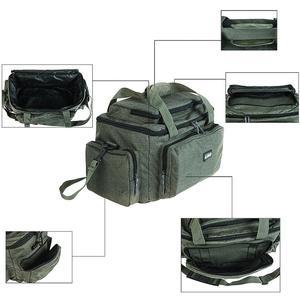 Image 5 - Duża pojemność wielofunkcyjna torba wędkarska tkanina nylonowa na ramię Messenger zbiornik wędkarski Reel Lure torba na aparat