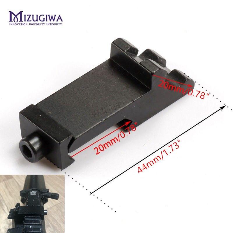 Kapsam dağı taktik 45 derece açı ofset yan adaptörü RTS 20mm Picatinny ray Weaver lazer avcılık tüfek Caza